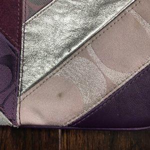 Coach Bags - Coach wristlet patchwork purple